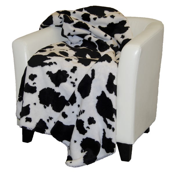 Denali White and Black Throw Blanket
