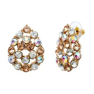Alexa Starr Glitz Teardrop Button Earrings