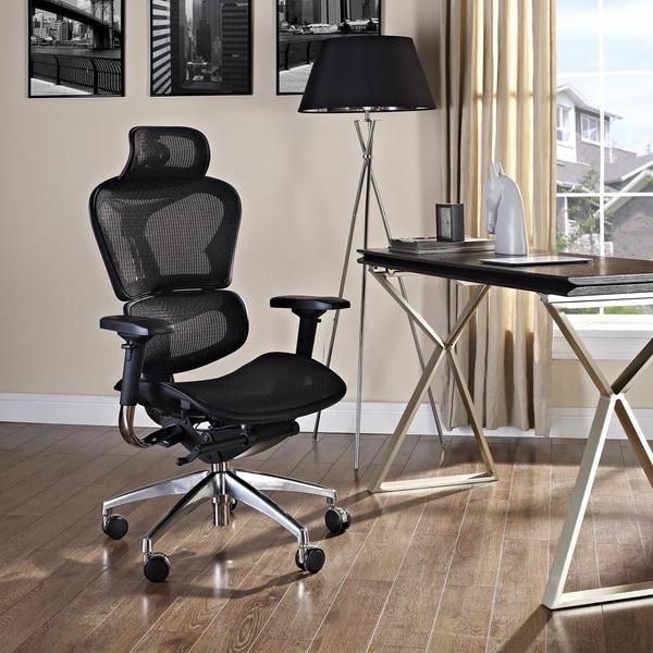Lift Mesh Ergonomic Black Executive Headrest Chair