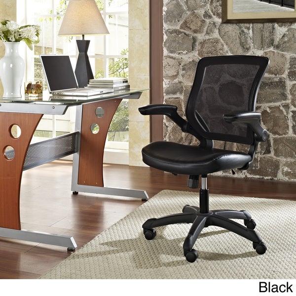 Porch & Den Williamsburg Veer Mesh Back / Vinyl Seat Office Chair
