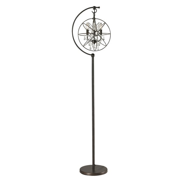 Restoration Globe Crystal Floor Lamp