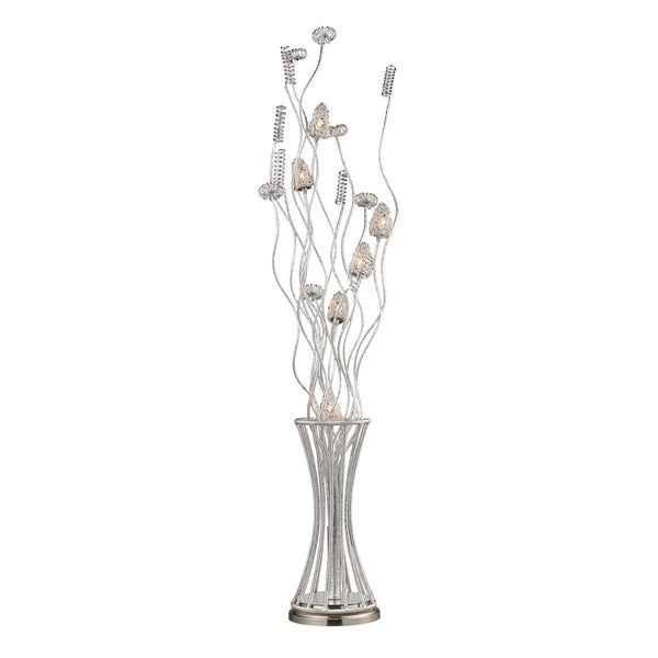 Satin Nickel Contemporary 6-light Floor Lamp
