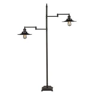 Restoration 2-light Oil Rubbed Bronze Floor Lamp