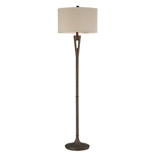 Resin 1-light Burnished Bronze Floor Lamp