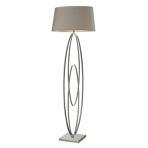 Stylish silver floor lamp free shipping today for Overstock silver floor lamp