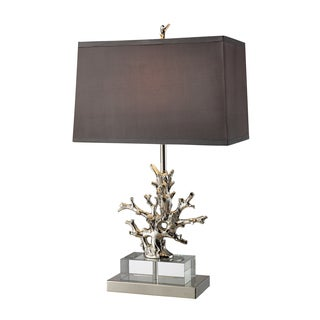 Covington 1-light Polished Nickel and Crystal Table Lamp