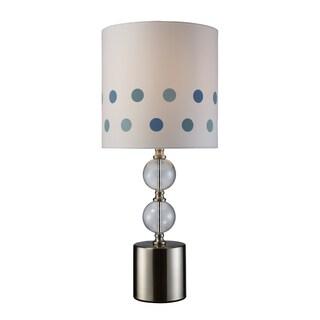 Fairfield 1-Light Chrome and GlassTable Lamp