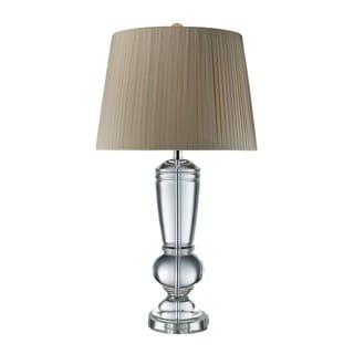 Castlebridge 1-light Clear Crystal Table Lamp