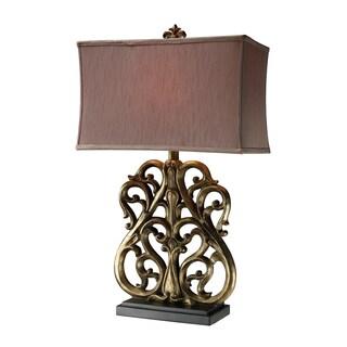 Roseville Oriole Gold Table Lamp