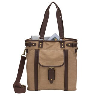 American Casual Collection Canvas Laptop/ Tablet Shoulder Tote Bag