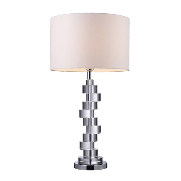 Armagh 1-light Clear Crystal and Chrome Table Lamp