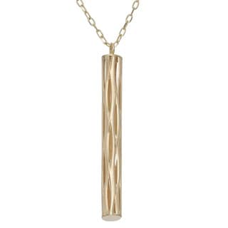 Gioelli 14k Yellow Gold Diamond-cut Stick Necklace