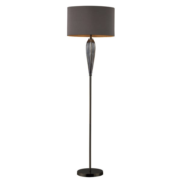 Floor Lamp in Steel Smoked Glass