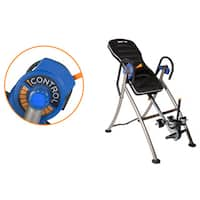 IRONMAN iCONTROL 600 Weight Extended Disk Brake System Inversion Table with Air Tech Backrest - Blue