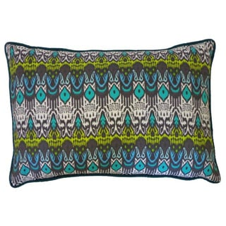 "Tribal Abstract Throw Pillow (12"" x 20"")"