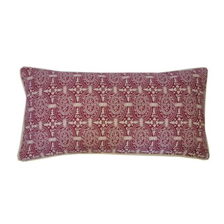 12 x 24-inch Stamp Throw Pillow (Option: Purple)