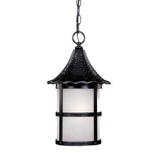 Ashton Collection Hanging Lantern 1-light Outdoor Matte Black Light Fixture