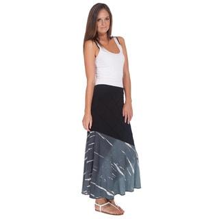 Handmade Boho Chic Organic Cotton Tie-dye Gypsy Skirt (Nepal)