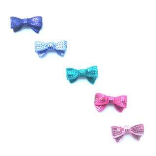 Mini Sequin Hair Bow Set (Set of 5)