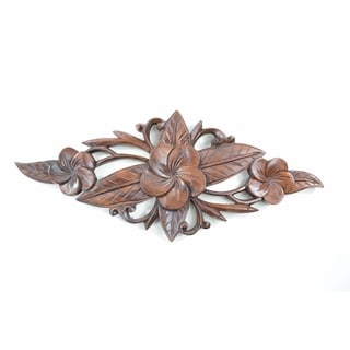 Gorgeous Floral Wood Carved Hanging Wall Decor