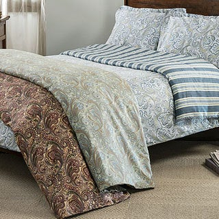 Lindsey 300 Thread Count Paisley 3 Piece Duvet Cover Set Free