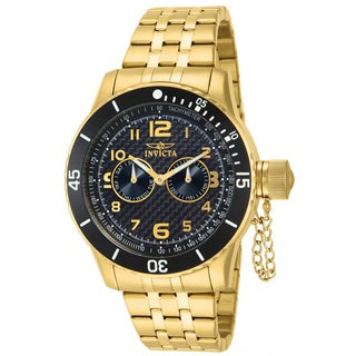 Invicta Men's Stainless Steel 'Specialty' Quartz Watch Gold Tone