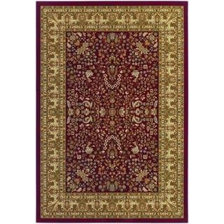 Couristan Izmir Floral Mashhad/Red Area Rug - 3'11 x 5'3