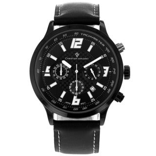 Christian Van Sant Men's Speedway Watch with Black Dial