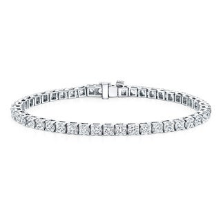 Auriya 14k Gold 2 to 12ct TDW Diamond Tennis Bracelet