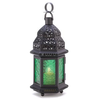 Zingz & Thingz Green Glass Moroccan Lantern