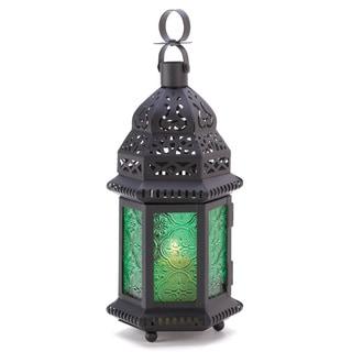 Zingz & Thingz Green Glass Moroccan Lantern