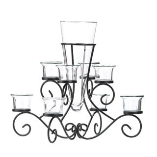 Scrollwork Candle Stand and Vase