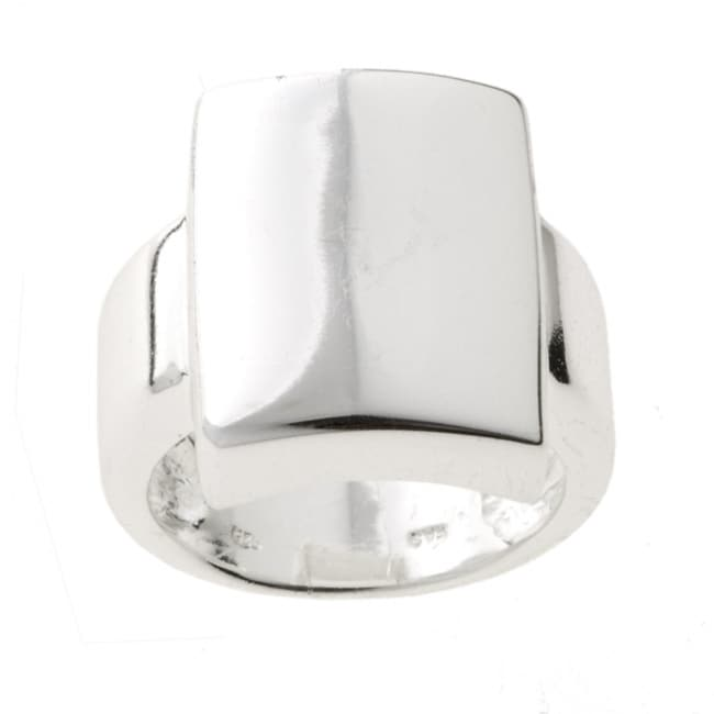 Mondevio Sterling Silver Shiny Square Ring