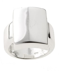 Mondevio Sterling Silver Shiny Square Ring - Thumbnail 0
