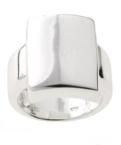Mondevio Sterling Silver Shiny Square Ring