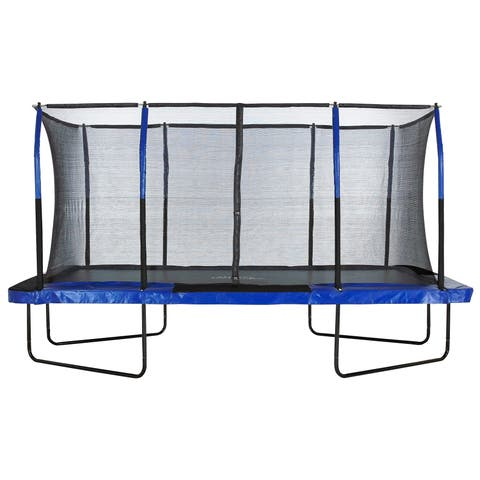 Upper Bounce Easy Assemble 8 x 14 Rectangular Trampoline with Enclosure