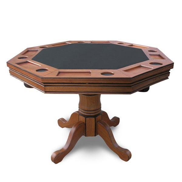 Hathaway Kingston Dark Oak 3 In 1 Poker Table