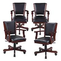 Hathaway Kingston Walnut Poker Table Arm Chair - Set of 4