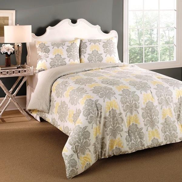 Laura Ashley Tatton 3-piece Reversible Comforter Set