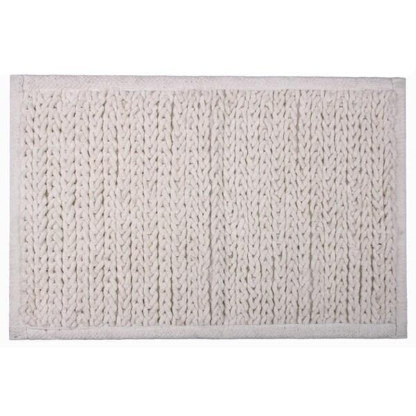 Knitted Chenille Cotton Bath Mat