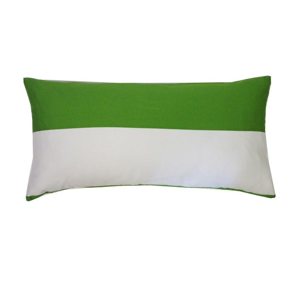"Handmade Two-Tone Throw Pillow - 12"" x 24"""