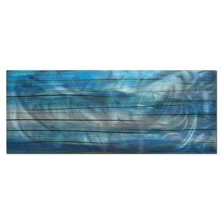 Belle 'Ocean View' Modern Metal Wall Art