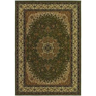 Izmir Royal Kashan/ Green Area Rug (5'3 x 7'6)