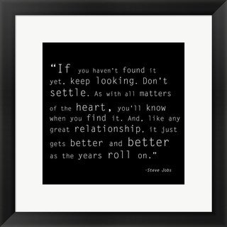 'Keep Looking Quote' Framed Art