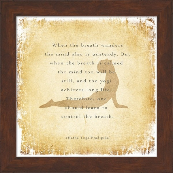 'When the Breath Wanders' Framed Art