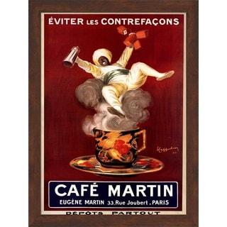 Leonetto Cappiello 'Cafe Martin' Framed Art
