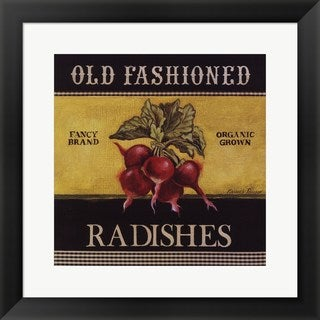 Kimberly Poloson 'Old Fashioned Radishes' Framed Art