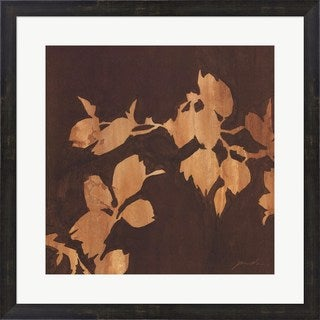 Liz Jardine 'Falling Leaves I' Framed Art