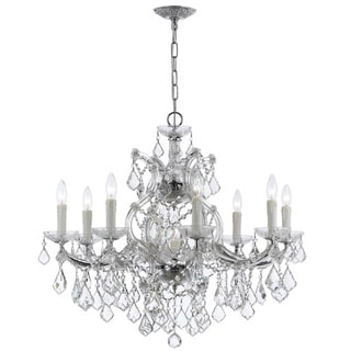 Crystorama Maria Theresa Collection 8-light Chrome/ Crystal Chandelier