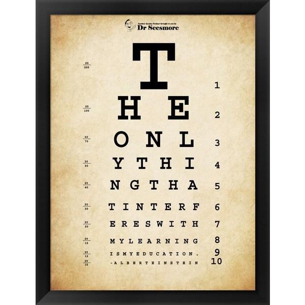 'Einstein Eye Chart' Framed Art. Opens flyout.